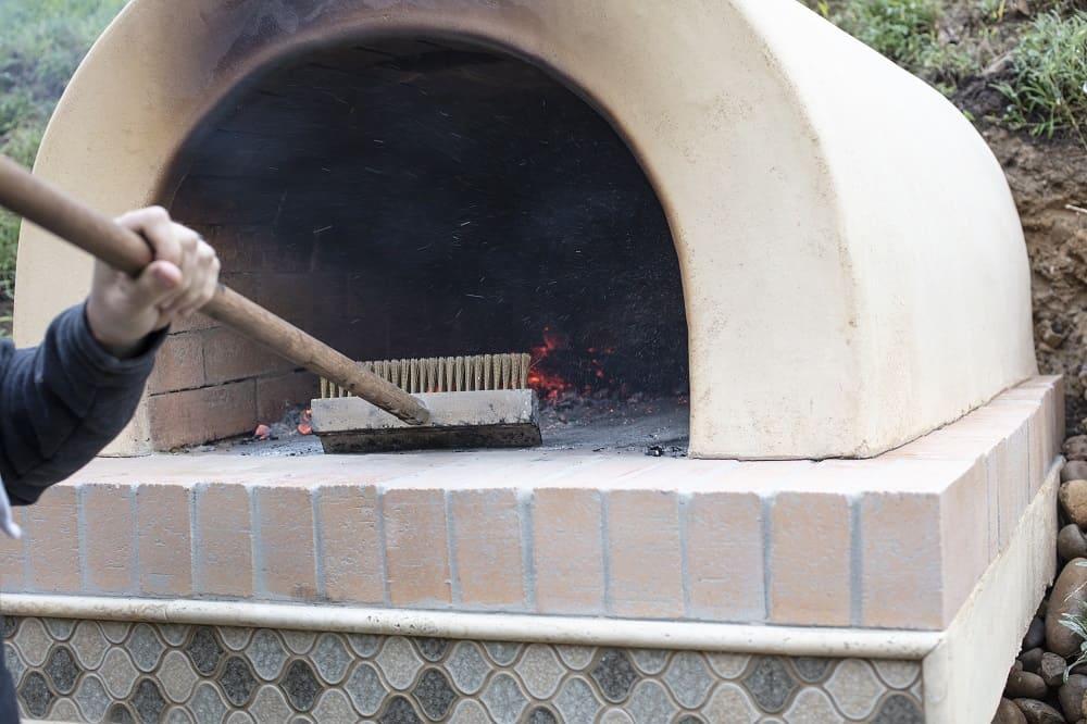 pizza oven preparation