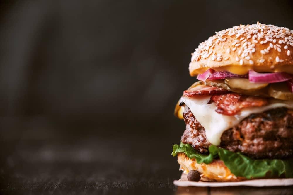 a delicious and juicy burger